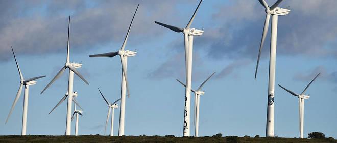 Parc éolien près de Villeveyrac, dans le sud de la France. La puissance raccordée de ces éoliennes pourrait tripler d'ici à 2030.