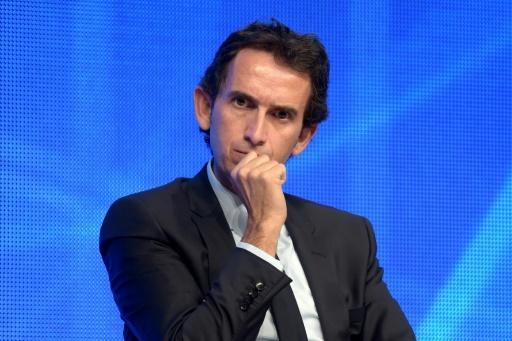 Le patron de Carrefour Alexandre Bompard, lors d'une conférence au ministère de l'Économie à Bercy, le 21 novembre 2017 © ERIC PIERMONT AFP/Archives