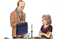 """«Et comment expliques-tu que tu souffres d'Alzheimer uniquement pour nos anniversaires de mariage?  ©Tartrais pour """"Le Point"""""""