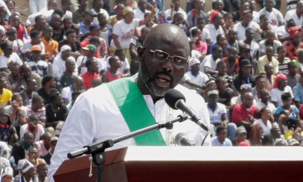 Weah : « Transformer la vie de tous les Libériens est l'objectif de ma présidence.» ©  Reuters / Thierry Gouegnon