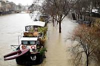 Les niveaux de la Seine sont élevés à Paris depuis plusieurs jours.  ©STEPHANE DE SAKUTIN