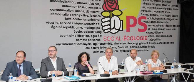 Une réunion de la direction collégiale du PS en juillet 2017.