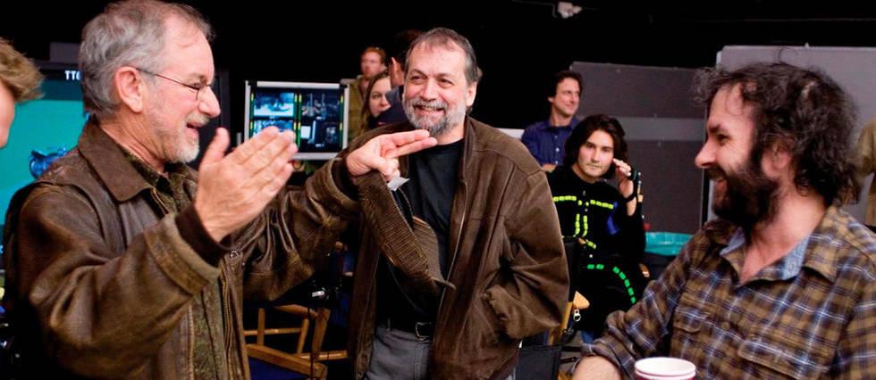 <p>Steven Spielberg, Joe Letteri et Peter Jackson.&#160;</p>