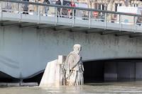 Le zouave du pont de l'Alma (ici le 26 janvier) a évité le pire.