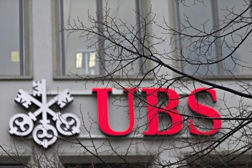Le logo de la banque UBS à Zurich, le 22 janvier 2018 © MICHELE LIMINA AFP/Archives