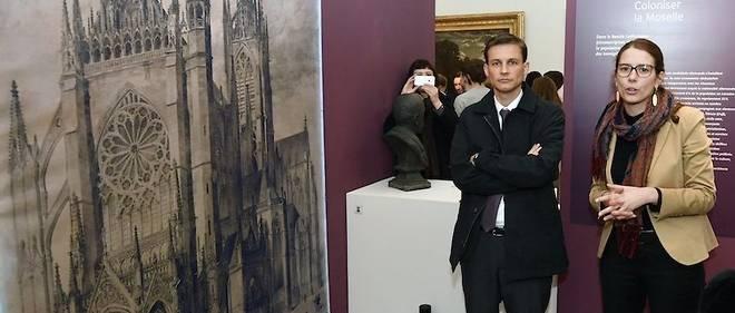 Frédéric Potier à Nancy en novembe 2017. Le délégué interministriel pour la lutte contre le racisme, l'antisémitisme et la haine anti-LGBT visite l'exposition d'un musée lorrain.