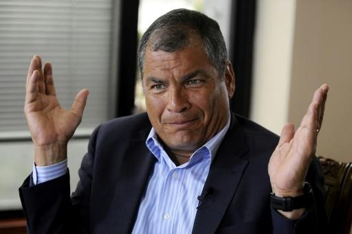 L'ex-président de l'Equateur Rafael Correa (2007-2017) à Quito le 19 janvier 2018 © CAMILA BUENDIA AFP/Archives