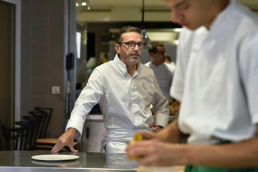 Le chef français Sebastien Bras le 21 septembre 2017 dans son restaurant Le Suquet, à Laguiole, au sud de la France © REMY GABALDA AFP/Archives
