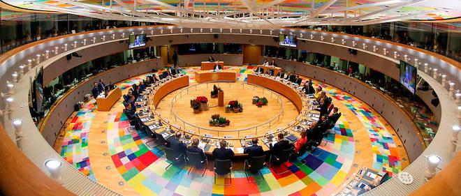 Le Conseil européen réunissant les chefs d'État et de gouvernement le 14 décembre 2017.