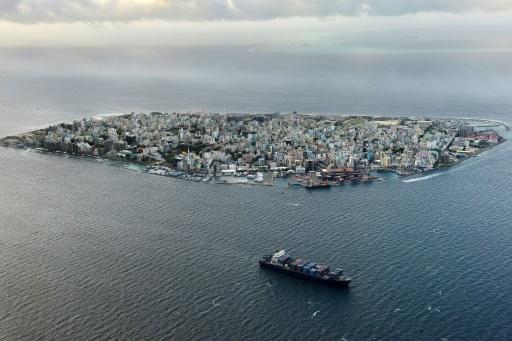 Vue aérienne de la ville de Malé, capitale des Maldives, en septembre 2013 © Roberto SCHMIDT AFP/Archives