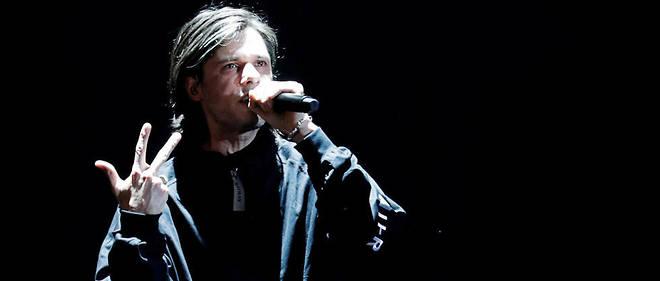 Le rappeur de 35 ans est arrivé tard dans la soirée, en raison d'un concert à Genève.