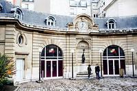 """Le siège du Parti socialiste rue de Solférino à  Paris.  (C)Sebastien Leban pour """"Le Point"""""""