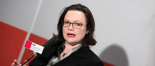 Andrea Nahles devrait devenir la première femme à diriger le SPD.