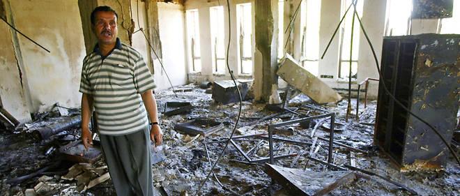 Ce qu'il restait de l'université de Mossoul au lendemain du conflit contre Daesh.