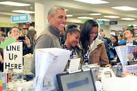 De plus en plus de jeunes Américains apprennent les mathématiques avec la méthode de Singapour, à l'instar des filles de l'ex-président Barack Obama.  ©CNP/ZUMA/REA