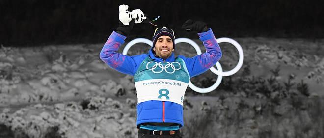 Martin Fourcade gagne une nouvelle médaille d'or en biathlon.