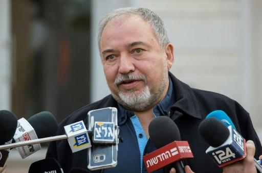 Le ministre israélien de la Défense Avigdor Lieberman à Re'im, en Israël, le 19 décembre 2017 © JACK GUEZ AFP/Archives