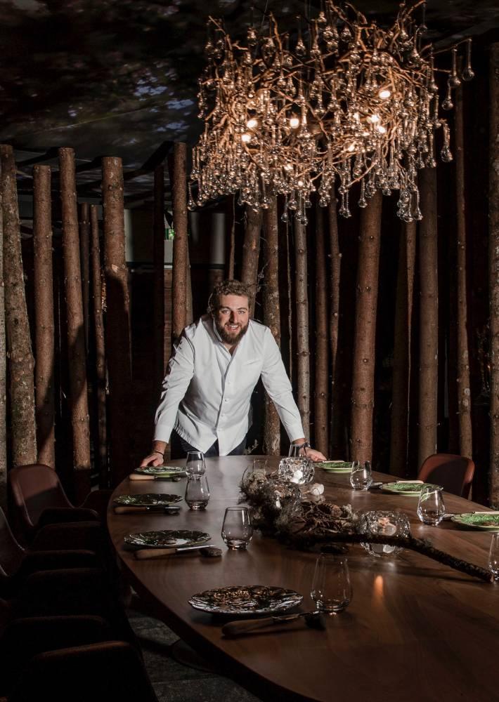 Savoie, com Le Point, Clement Bouvier, restaurant l'Ursus. © Alban PERNET/REA Alban PERNET/REA / Alban PERNET/RA POUR  LE POINT