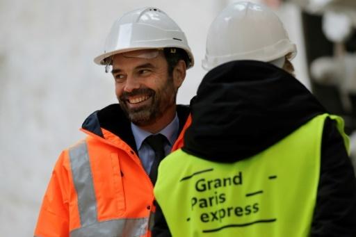 Le Premier ministre Edouard Philippe lors d'(une visite sur un chantier du Grand Paris à Champigny-sur-Marne, le 23 janvier 2018 © Thomas Samson AFP/Archives