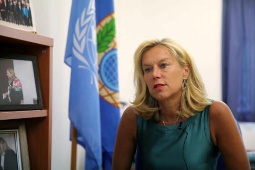Sigrid Kaag, le 23 juin 2014 à Nicosie © Yiannis Kourtoglou AFP/Archives