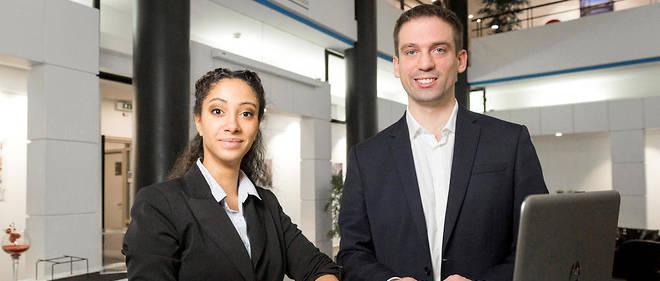Guillaume et Inès, étudiants à l'ESSEC, Ecole Supérieure des Sciences Economiques et Commerciales