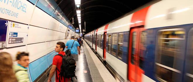 Un wagon du RER C a été transpercé par une pièce métallique. (Illustration)