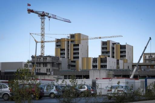 Le site de construction du plus grand ensemble d' habitat participatif de France dans le quartier de la Cartoucherie à Toulouse, le 1er février 2018 © ERIC CABANIS AFP