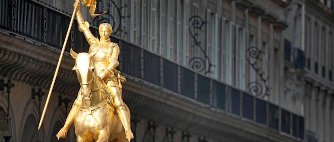 La statue de Jeanne d'Arc, rue de Rivoli à Paris. (Illustration)