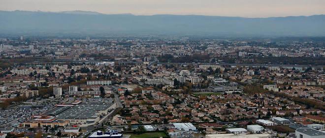 La ville de Valence (Drôme).