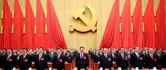 Le président chinois Xi Jinping lors du dernier congrès du Parti communiste chinois, le 18 octobre 2017.