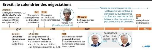 Chronologie du Brexit © Gillian HANDYSIDE AFP