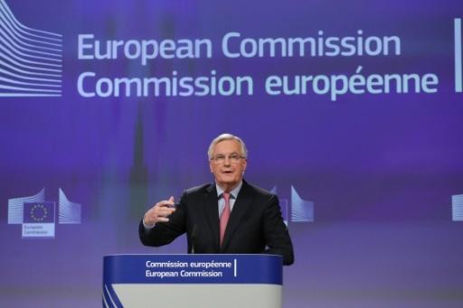 Le négociateur de l'UE pour le Brexit, Michel Barnier, pendant une conférence de presse à Bruxelles le 28 février 2018 © Aris Oikonomou AFP