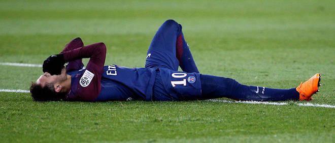 Neymar s'est blessé à la cheville contre Marseille dimanche 25 février.