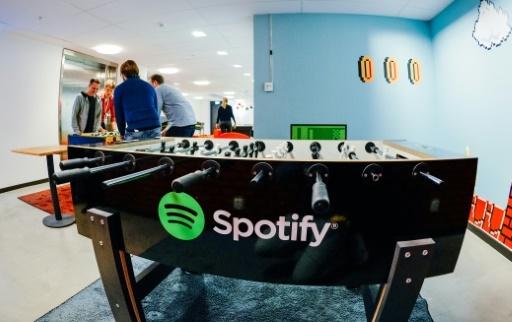 Spotify affirme avoir vu ses revenus bondir de 38% en 2017  © JONATHAN NACKSTRAND AFP/Archives