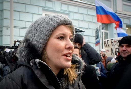 Ksenia Sobchak à Moscou le 25 février 2018 © Yuri KADOBNOV AFP/Archives
