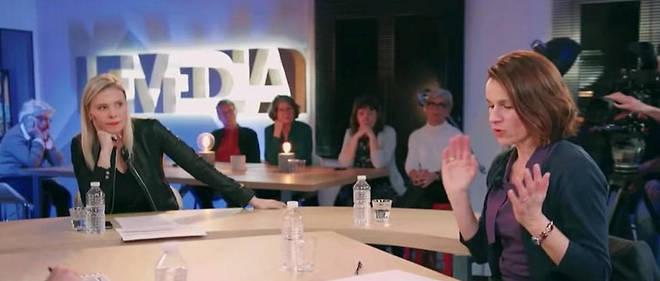 Sur le plateau du Média, un débat animé par Aude Lancelin avec Aurélie Filippetti. L'ancienne ministre a pris ses distances avec la chaîne dans une tribune publiée par Le Monde.