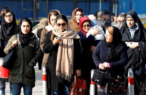 Des Iraniennes dans une rue de Téhéran, le 7 février 2018 © ATTA KENARE AFP