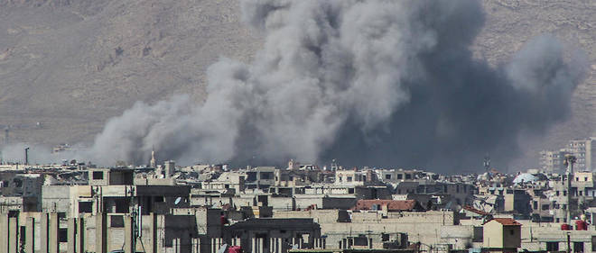 La Ghouta est bombardée.