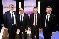 Le groupe TF1, dont LCI fait partie, souffre depuis plusieurs jours d'une baisse d'audience en raison de son conflit ouvert avec Canal+ et Free, qui a notamment conduit le groupe Bolloré à couper le signal des chaînes du groupe jeudi 1er mars.  ©GEOFFROY VAN DER HASSELT