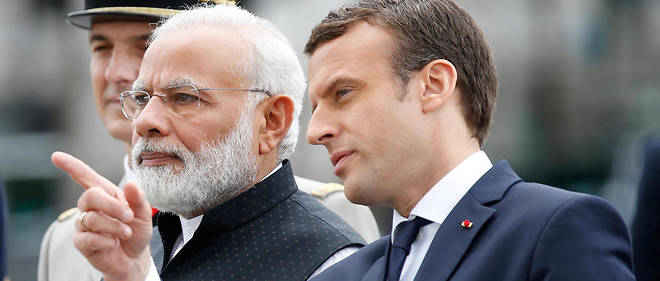 Narendra Modi et Emmanuel Macron à Paris, en juin 2017.