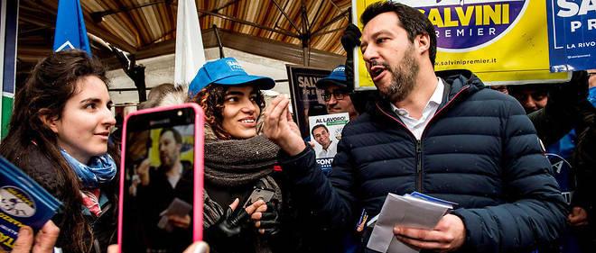 Métamorphose. Matteo Salvini (ici à Milan, le 1ermars) fera-t-il alliance avec le Mouvement 5étoiles, l'autre gagnant des législatives?