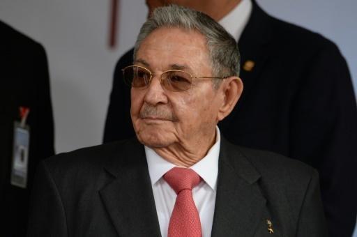 Le président cubain Raul Castro, le 5 mars 2018 à Caracas, au Venezuela © FEDERICO PARRA AFP/Archives