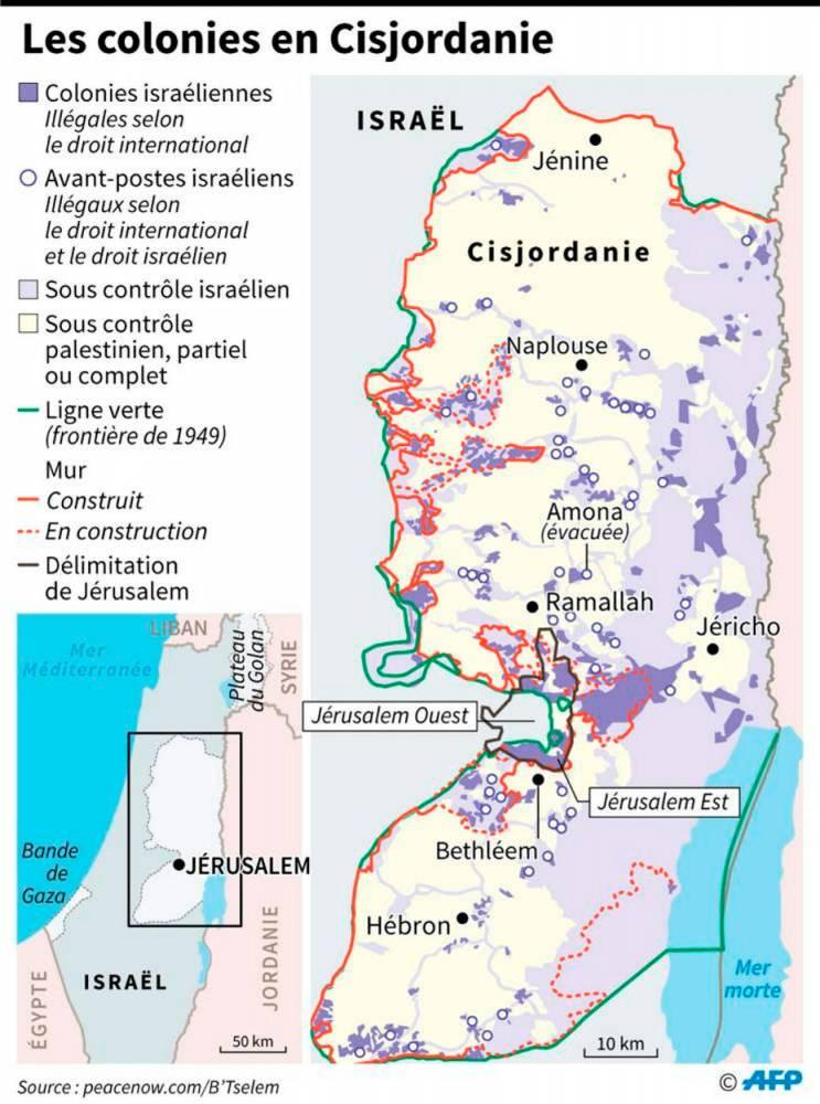 La colonisation israélienne en Cisjordanie ©  AFP