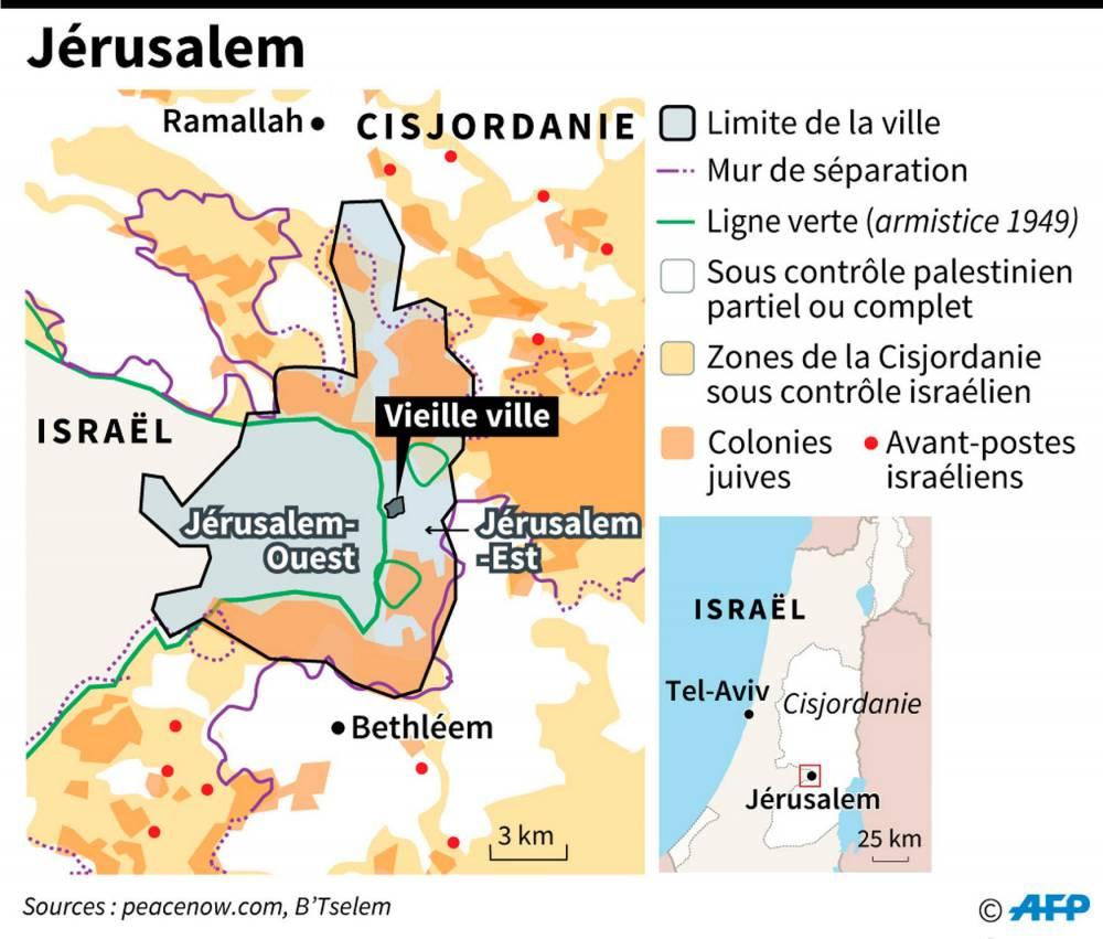 La colonisation israélienne à Jérusalem-Est ©  AFP
