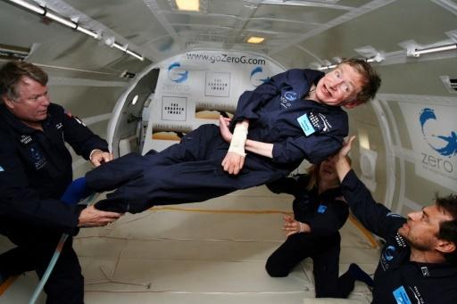L'astrophysicien britannique Stephen Hawking est décédé le 13 mars 2018 à l'âge de 76 ans © ZERO G ZERO G/AFP/Archives