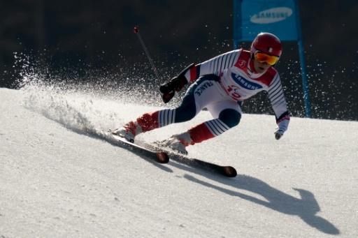 Marie Bochet lors du slalom géant des Jeux paralympiques, à Pyeongchang, le 14 mars 2018  © Bob MARTIN OIS/IOC/AFP