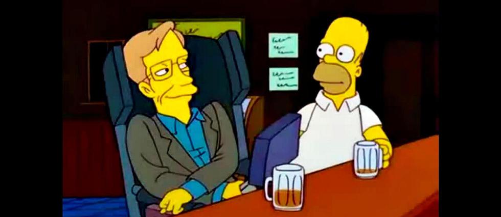 <p>Stephen Hawking dans Les Simpson.&#160;</p>