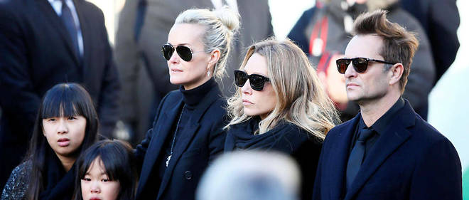 Le « clan » Hallyday lors de l'enterrement de Johnny Hallyday.