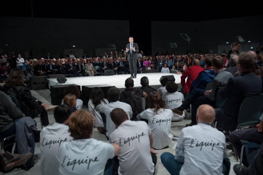 Emmanuel Macron © Sophie Dupressoir Hans Lucas