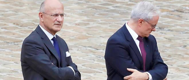 Complémentaires. Le préfet Pierre de Bousquet de Florian, coordonnateur national du renseignement et de la lutte contre le terrorisme (à g.), et Bernard Émié, directeur général de la sécurité extérieure, lors de la réception de Donald Trump aux Invalides, le 13 juillet 2017.